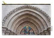 Madonna With Child On Matthias Church Tympanum Carry-all Pouch