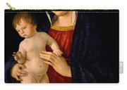 Madonna With The Child Blessing Carry-all Pouch by Giovanni Bellini
