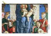 Madonna With The Child Enthroned  Carry-all Pouch by Cosme Tura