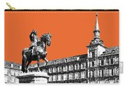 Madrid Skyline Plaza Mayor - Coral Carry-all Pouch