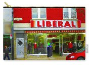 Magazin Liberal Dress Shop On Rue Notre Dame Montreal St.henri City Scenes Carole Spandau Carry-all Pouch
