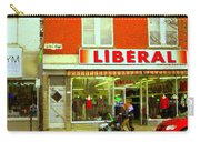 Magazin Liberal Notre Dame Ouest Dress Shop Strolling  St. Henri  Street Scenes Carole Spandau Carry-all Pouch