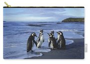 Magellanic Penguin Trio On Beach Carry-all Pouch