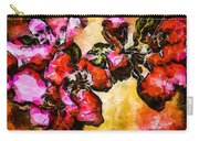 Magenta Flowers  -- Cubism Carry-all Pouch