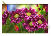 Magenta Flowers Carry-all Pouch