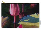 Magenta Lily Pads Carry-all Pouch
