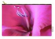 Magenta Splendor Gladiola Flower Carry-all Pouch by Jennie Marie Schell