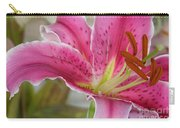 Magenta Tiger Lily Carry-all Pouch