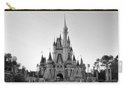 Magic Kingdom Castle In Black And White Carry-all Pouch