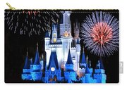 Magic Kingdom Castle In Blue With Fireworks Carry-all Pouch