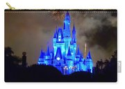 Magic Kingdom Castle In Deep Blue With Fireworks Carry-all Pouch