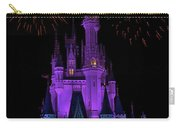 Magic Kingdom Castle In Purple With Fireworks 01 Carry-all Pouch