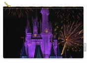 Magic Kingdom Castle In Purple With Fireworks 02 Carry-all Pouch