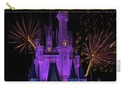 Magic Kingdom Castle In Purple With Fireworks 03 Carry-all Pouch