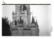 Magic Kingdom Castle Side View In Black And White Carry-all Pouch