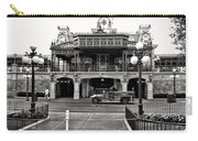 Magic Kingdom Train Station In Black And White Walt Disney World Carry-all Pouch