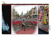 Magic Kingdom Walt Disney World 3 Panel Composite Carry-all Pouch