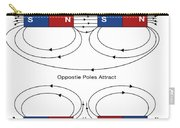 Magnetic Field Lines Carry-all Pouch