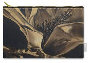 Magnolia Blossom In Sepia Carry-all Pouch