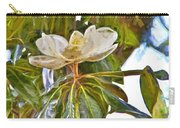 Magnolia White Carry-all Pouch