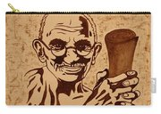 Mahatma Gandhi Coffee Painting Carry-all Pouch