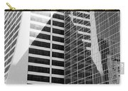 Mahnattan Architecture Black And White Carry-all Pouch