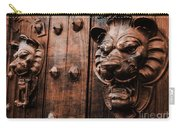 Mahogany Lion Heads Carry-all Pouch