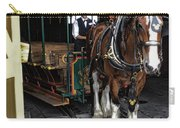Main Street Horse And Trolley Carry-all Pouch