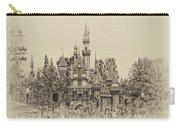 Main Street Sleeping Beauty Castle Disneyland Heirloom 01 Carry-all Pouch