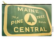 Maine Central The Pine Tree Route Carry-all Pouch
