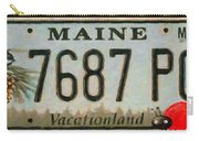 Maine License Plate Carry-all Pouch