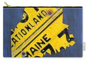 Maine License Plate Map Vintage Vacationland Motto Carry-all Pouch by Design Turnpike
