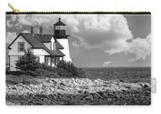 Prospect Harbor Point Light ... Bw Carry-all Pouch