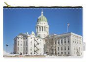 Maine State Capitol Building In Winter Augusta Carry-all Pouch