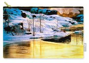 Maine Winter Along The Androscoggin River Carry-all Pouch
