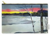 Maine Winter Sunset Carry-all Pouch