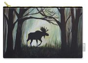 Majestic Bull Moose Carry-all Pouch by Leslie Allen