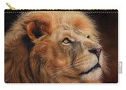 Majestic Lion Carry-all Pouch by David Stribbling