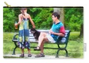 Making A New Friend In The Park Carry-all Pouch