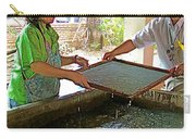 Making Paper Using Mulberry Tree Pulp At Boring Paper Factory In Chiand Mai-thailand Carry-all Pouch