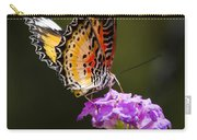 Malay Lacewing On A Flower  Carry-all Pouch