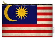 Malaysia Flag Vintage Distressed Finish Carry-all Pouch