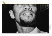 Malcolm X Carry-all Pouch by Benjamin Yeager
