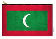 Maldives Flag Vintage Distressed Finish Carry-all Pouch