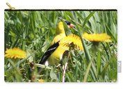 Male American Goldfinch Camouflage Carry-all Pouch