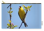 Male American Goldfinch Gathering Feathers For The Nest Carry-all Pouch