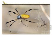 Male And Female Golden Silk Spiders Carry-all Pouch