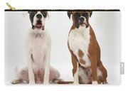 Male Boxer With Female Boxer Dog Carry-all Pouch