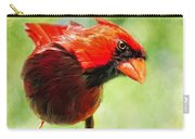 Male Cardinal Close Up - Digital Paint Carry-all Pouch