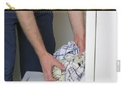Male Doing Laundry Carry-all Pouch